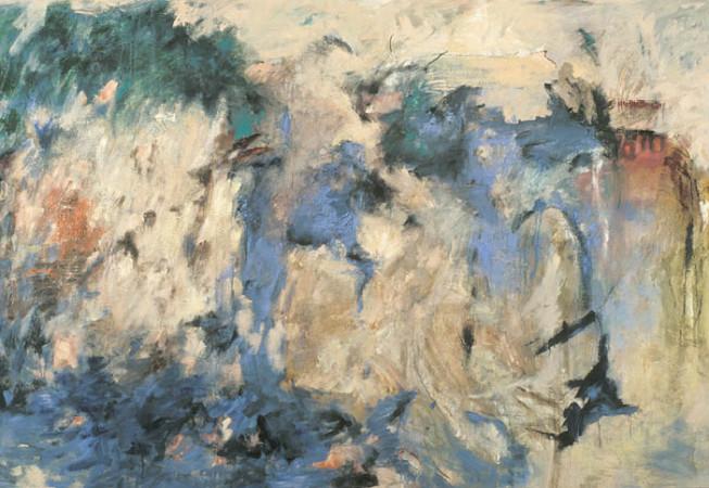 «Désert», 1989, Symposium de Baie St-Paul, 1989, Peinture à l'huile et sable sur papier, 6pi x 8 pi