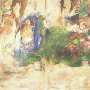 Rites of Passage, no. 7, 1989, Oil on paper, 90''x 118''