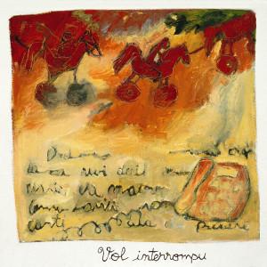 Vol interrompu, 2001, huile sur papier fait main, 36 x 34