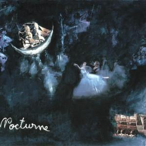 Nocturne, 2001, médias mixtes sur papier, 18'' x 24''
