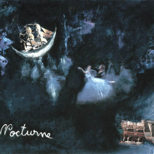 Nocturne, 2001, mixed media on paper, 18'' x 24''
