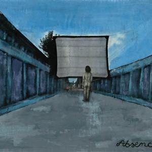 Absence, 2001, médias mixtes sur papier, 18'' x 24''