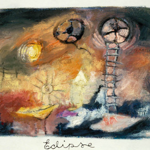 Éclipse, 2001, huile sur papier fait main, 37' x 29'