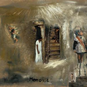 Mémoire, 2001, médias mixtes sur papier, 18'' x 24''
