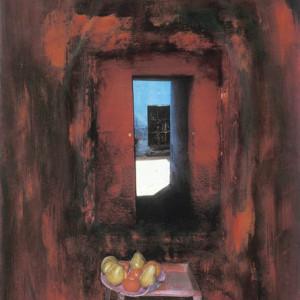 Passage, no?, 2001, médias mixtes sur papier, 18 x 24