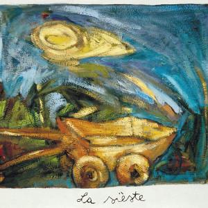 La sieste, 2001, huile sur papier fait main,